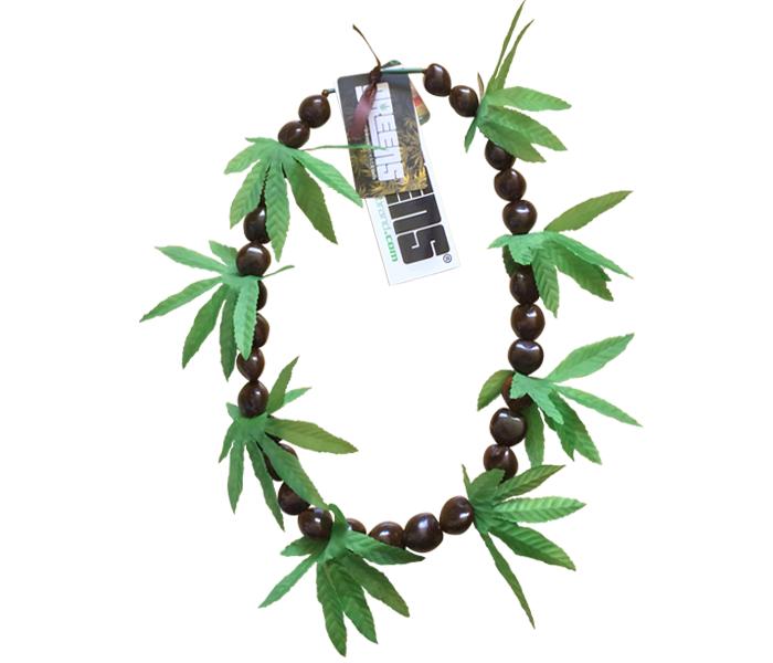 greensbrand brown kukui beads