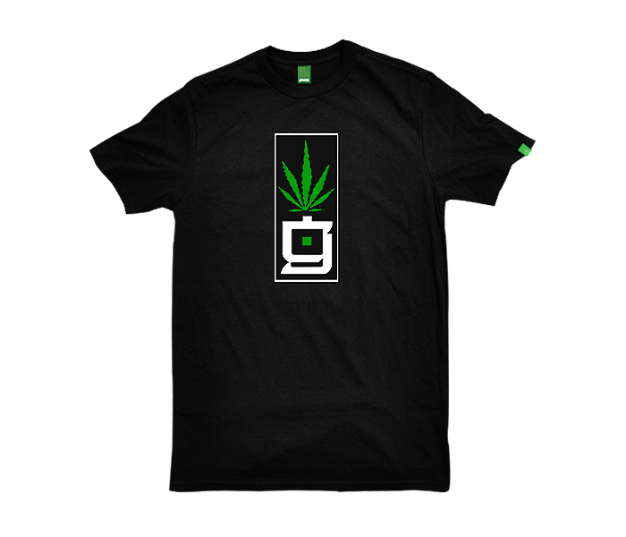 greensbrand G Block design black t-shirt
