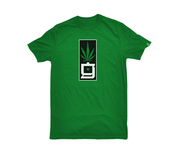 greensbrand G Block design green t-shirt