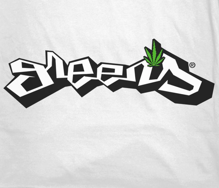 greensbrand Graph design t-shirt closeup