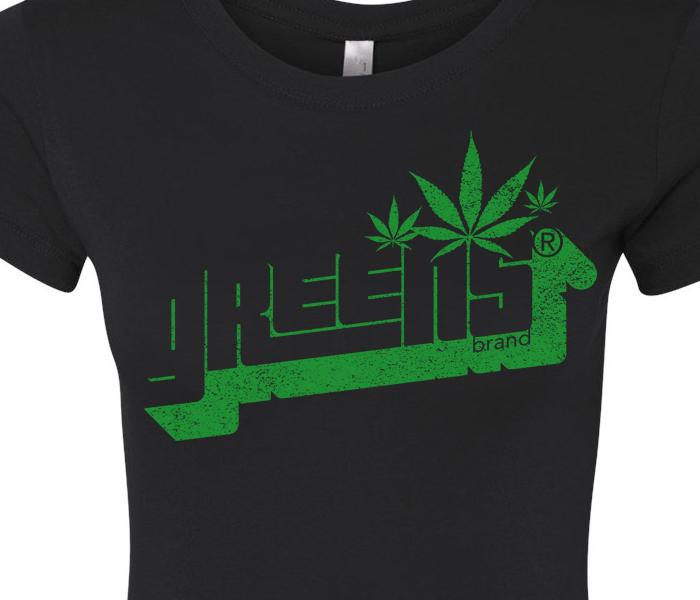 greens®brand_girls-Stampd-black-tee-closeup